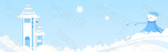 卡通风景背景banner