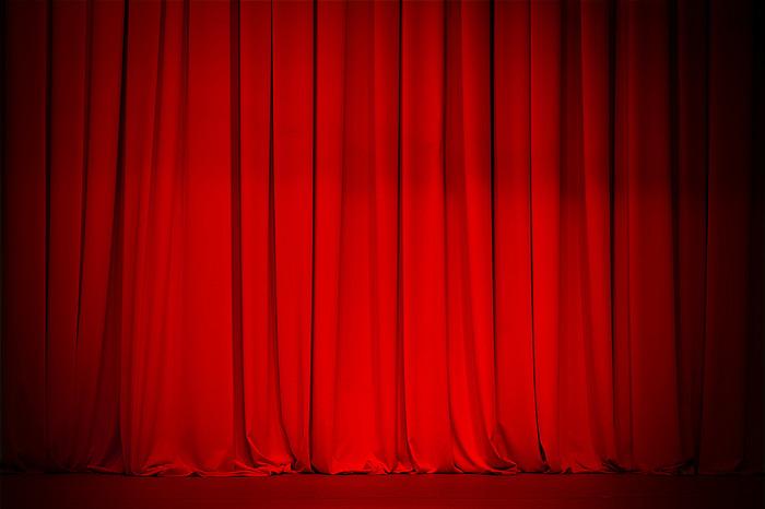 红色幕布背景高清图片