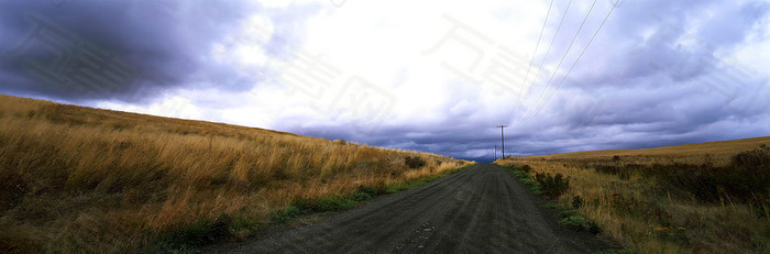 草原公路海报素材