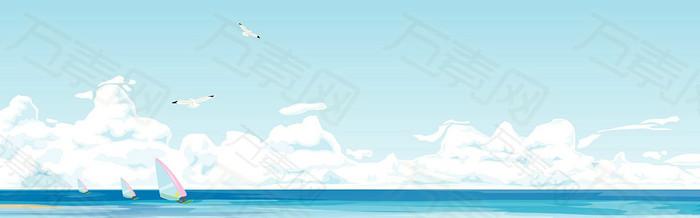卡通海洋背景