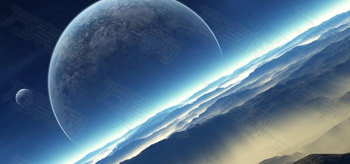 天空星球自然风光背景