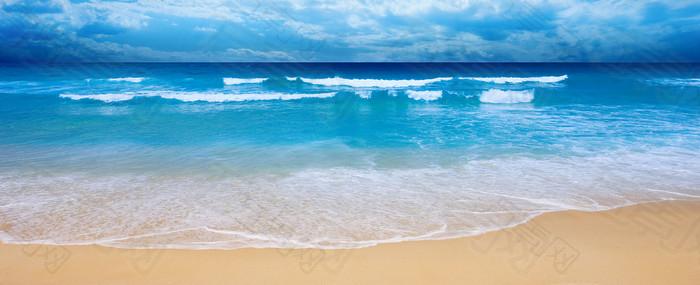 大气海滩背景