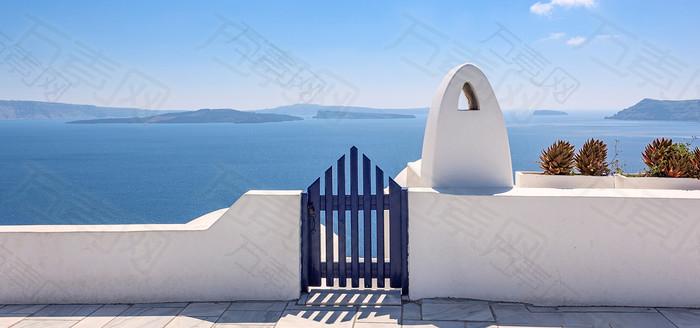 海港围栏背景