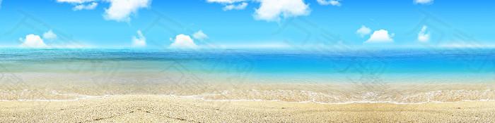 夏季沙滩背景banner