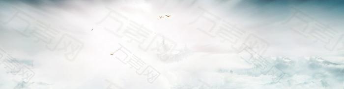 云彩天空高清banner背景