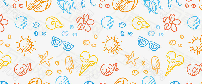 手绘夏季背景