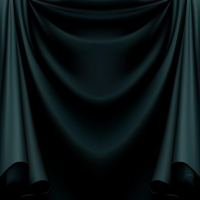 黑色质感纹理幕布背景