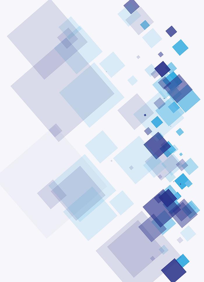 矢量方块几何碎片科技背景