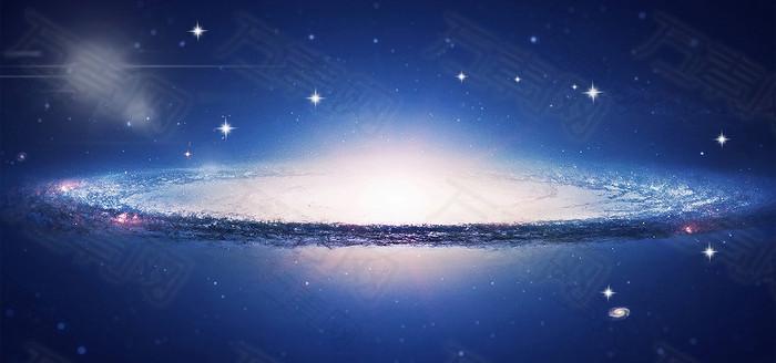 宇宙星海漩涡背景banner