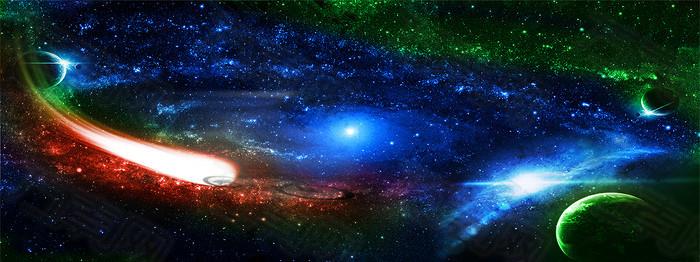 璀璨星空背景
