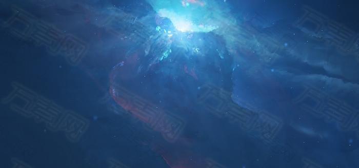 蓝色科技展板