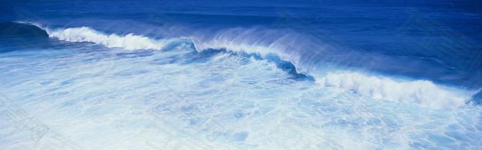 蓝色大海唯美背景图