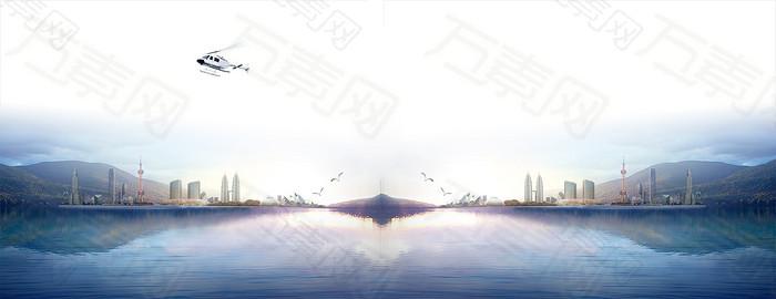金融财经商务banner背景