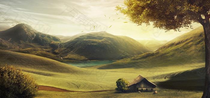 绿色清新风景背景图
