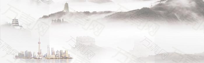 雾里云山 虚幻背景