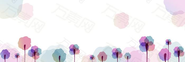 精美韩国banner背景