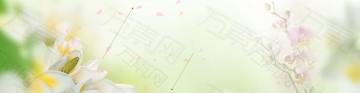 护肤品朦胧清新背景banner