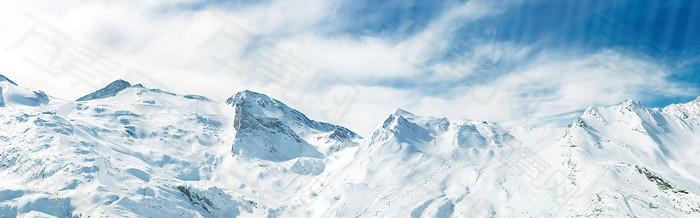 雪景banner背景
