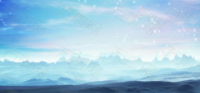 2梦幻星空背景图片PSD素材背景banner