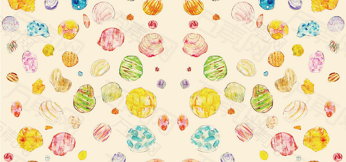 手绘彩色糖果背景