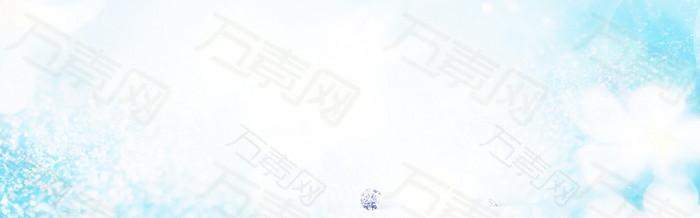 蓝色花瓣背景