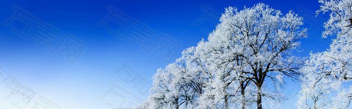 冬天雪地背景图