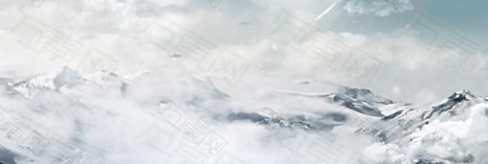 大气雪景背景