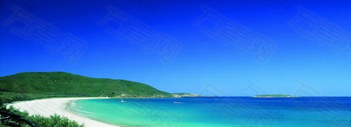澳大利亚黄金海边风景背景