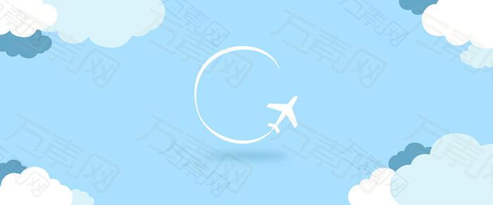 简洁白色飞机背景