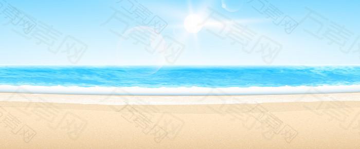 沙滩海浪背景