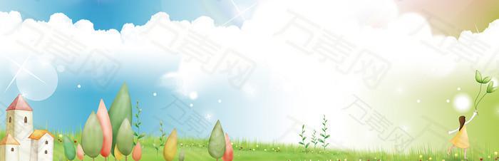 卡通清新背景banner