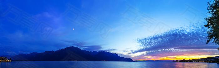 海上风景背景图