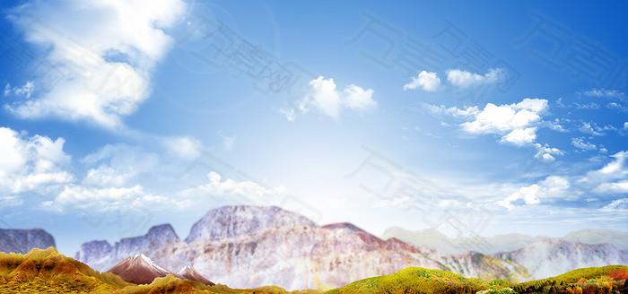 大气摄影背景