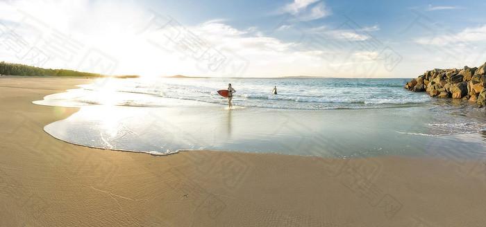 海滩摄影背景