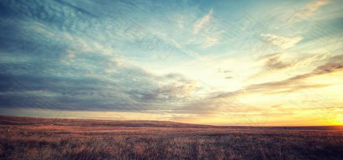 麦田天空大气背景