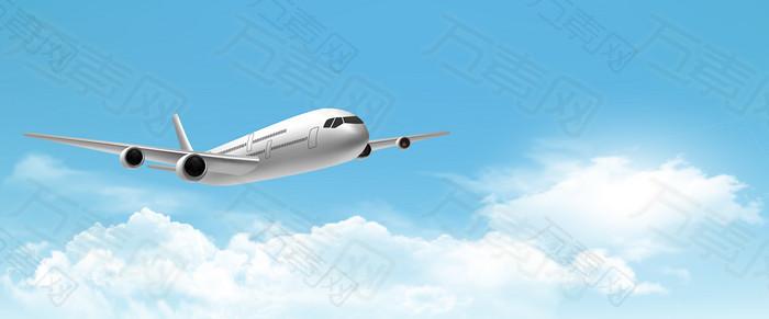 高空飞行客机背景