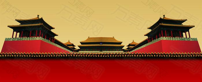 中国古典皇宫大气背景