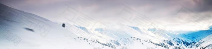 冬季banner背景图