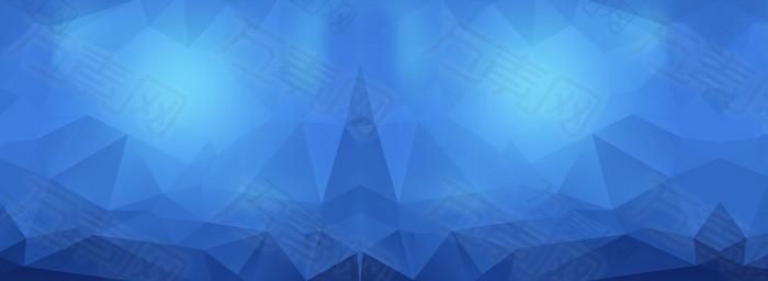 蓝色扁平背景