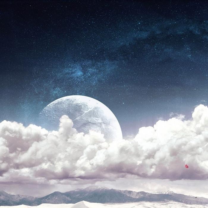 梦幻星空促销推广主图背景图
