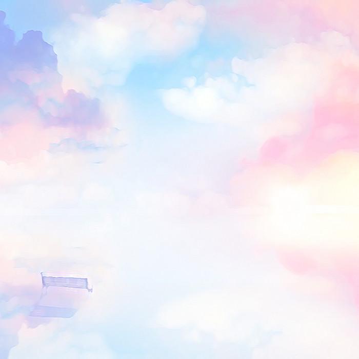 粉色渐变天空背景