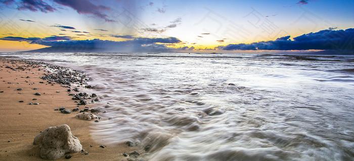 沙滩大海海报素材