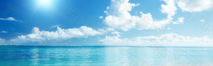 简约唯美大气美丽海景海报背景
