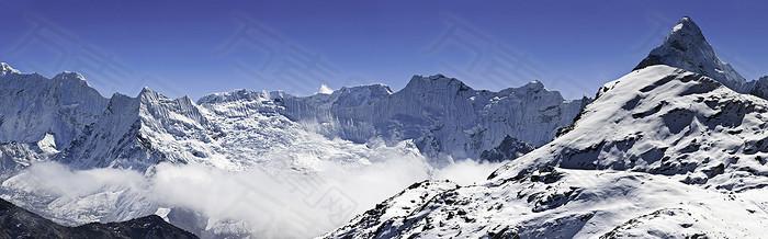 雪山海报背景图