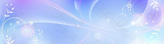 梦幻花卉banner背景