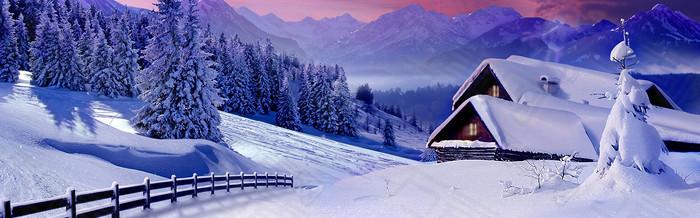 雪地banner