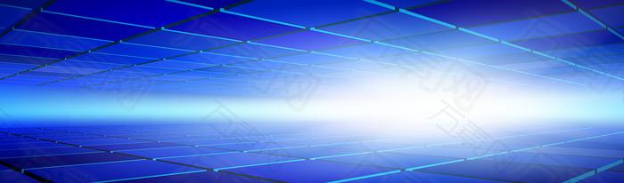 蓝色立体三维空间背景