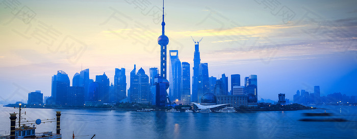 上海夜景banner素材