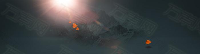 山峰背景banner设计