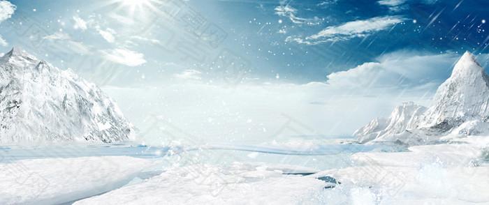 雪景 大气背景